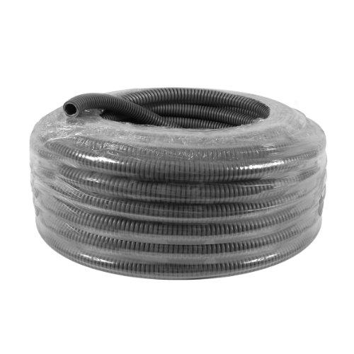 DEBFLEX Bobinot de câble | Bobine de Fils électrique | Câble électrique | Couronne de câble | 415255 Bobinot Gaine ICTA 3422 | Diamètre 16mm | Longueur 25 mètres | Gris
