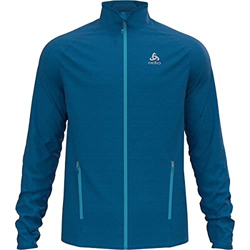 Odlo Herren Midlayer full zip PROITA, mykonos blue, XL