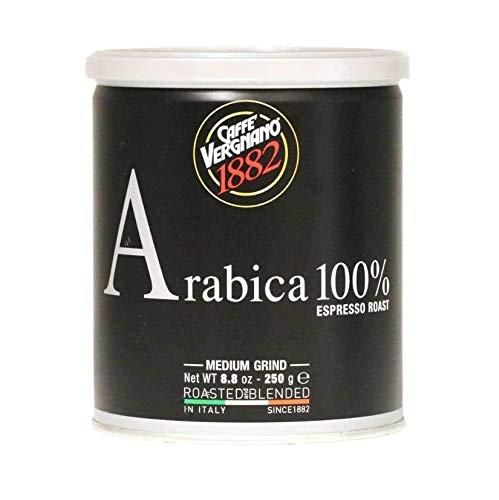 Caffe Vergnano Espresso Roast 100% Arabica Ground Coffee in Tin - Medium Grind (8.8 ounce)