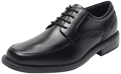 Rockport Men's Style Leader 2 Apron Toe Black Waxed Calf 9 M (D)-9 M