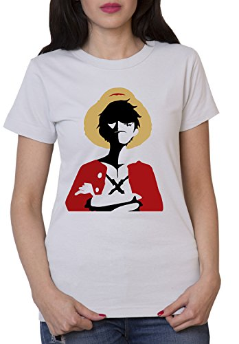 Roi T-Shirt Femme Pirate Luffy Ruffy One Monkey Anime Piece Zoro - Gris - L
