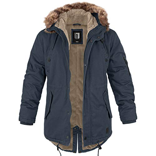 BW-ONLINE-SHOP Winterparka Fishtail mit Futter Navy - XL