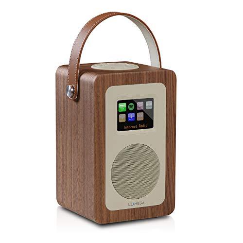 LEMEGA M6+ Radio Inteligente Portátil con Wi-Fi, Radio por Internet, Spotify, Bluetooth, DLNA, Dab, Dab+, Radio FM, Reloj, Alarmas, Preajustes Y Control Inalámbrico De Aplicaciones - Nogal