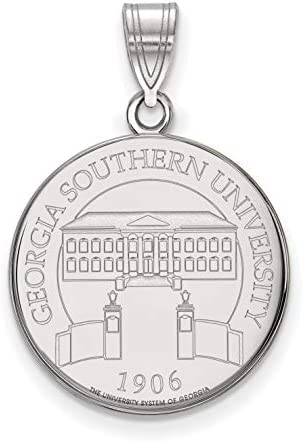 Georgia Southern University Eagles School Crest Pendant in Sterling Silver