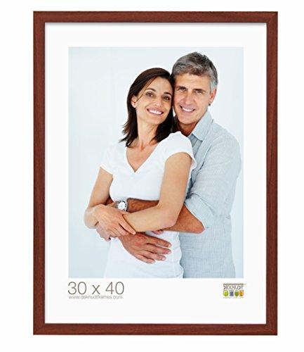 Deknudt Frames S44CH3 - Portafoto Basic in legno e MDF, sottile, 40 x 50 cm, colore: Marrone chiaro