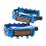 LIOOBO 1 para Mountainbike Pedal Metall Fahrrad plattform Flache Pedale für MTB Road Mountainbike rennrad (blau)