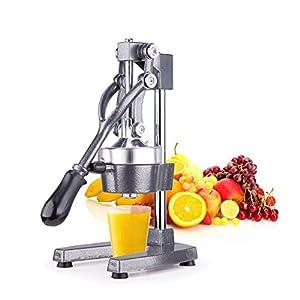 Sfeomi Exprimidor de Frutas Manual Exprimidor de Naranjas Comercial Exprimidor de Cítricos de Grado Comercial para Granada, Limón y Naranja para el Hogar, Restaurante (Gris)