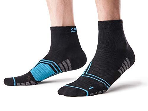 3 Paar Sportsocken für Männer Coolmax Serie, Allrounder Sport Socken für Fitness, Laufen, Joggen, Wandern und Triathlon, Knöchelhoch, Coolmax Ultra Light, 42-47