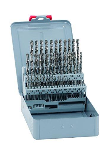 Bohrer / HSS Cobalt Spiralbohrer Set KM 50, 50-teilig | kobaltlegiert, selbstzentrierend und exakt, zum Bohren von Werkstoffen mit höherem Legierungsgehalt und Festigkeit über 800 N/mm²| Ø 1–5,9 mm