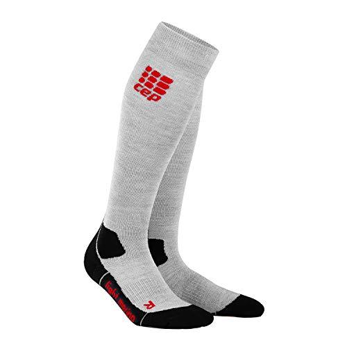 CEP – Hiking Light Merino Socks für Damen | Lange atmungsaktive Wandersocken Volcanic Dust | Größe III