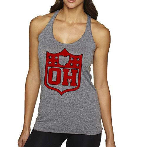 America's Finest Apparel Ohio Shield Tank - Women's (Small) Grey