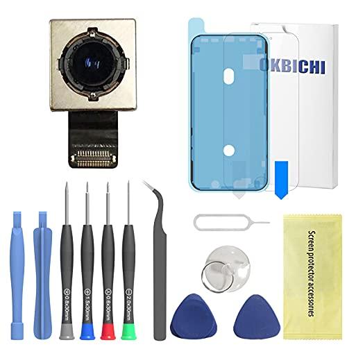 OKBICHI - Fotocamera posteriore per iPhone XR (tutti i vettori), modulo di ricambio per cavo flessibile, strumenti di riparazione con protezione schermo e guarnizione impermeabile