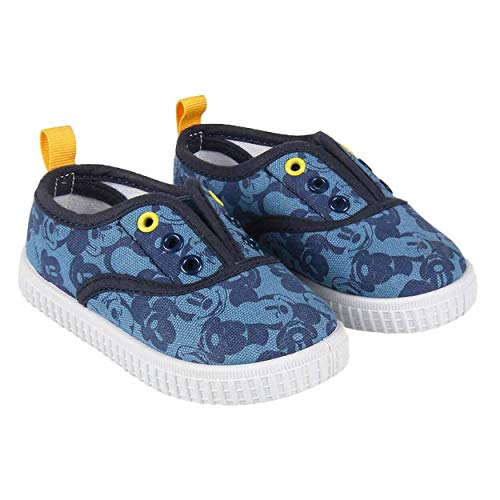Zapatillas de Lona Niño Mickey Mouse Disney Sin Cordones, Azules (Tallas 22 a 27) (25 EU)