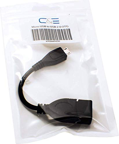 C&E CNE28224 USB 2.0 A Female to Micro B Male Adapter Cable Micro USB Host Mode OTG Cable