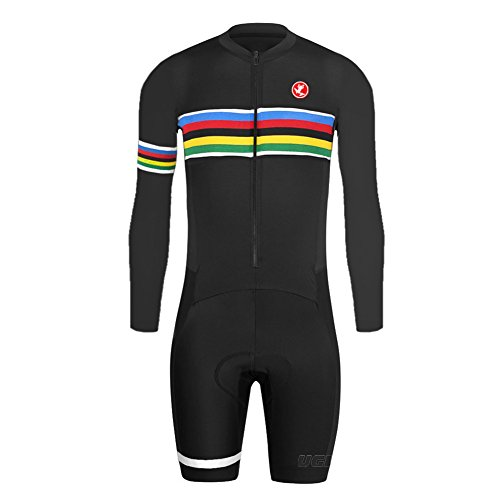 Uglyfrog 2018-2019 Bike Wear De Manga Larga Maillot Ciclismo Monos Hombre Equipos Una Gran Cantidad De Colores Skinsuit with Gel Pad Equipo Deportivo SKL04