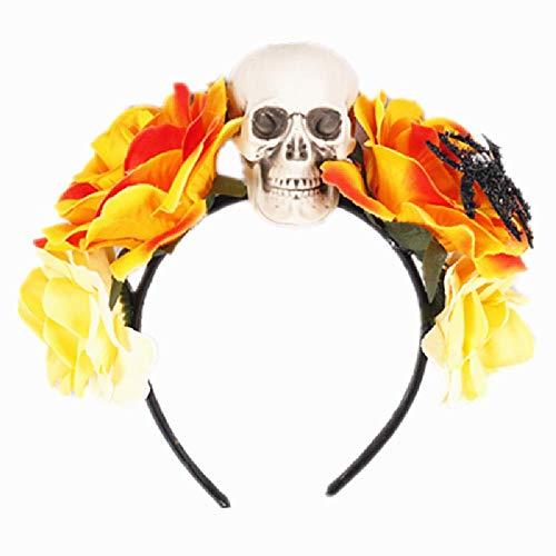 Halloween Rose Ring Schädel Haarband Kopfschmuck Tanzparty Ghost Head Band