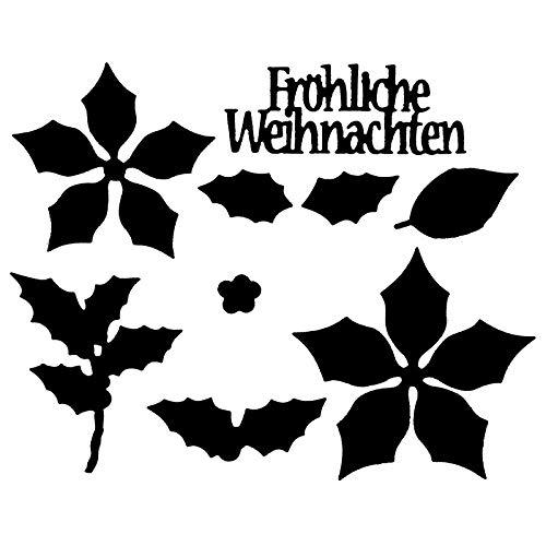 Präge- & Stanzschablonen | 3-D Weihnachtsstern | 9 Stück