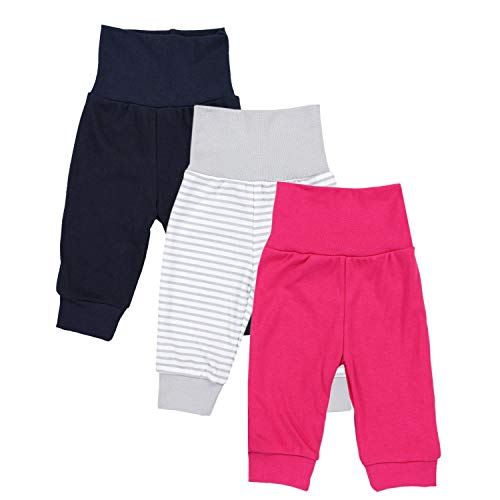 TupTam Baby Mädchen Lange Pumphose 3er Pack, Farbe: Farbenmix 1, Größe: 86