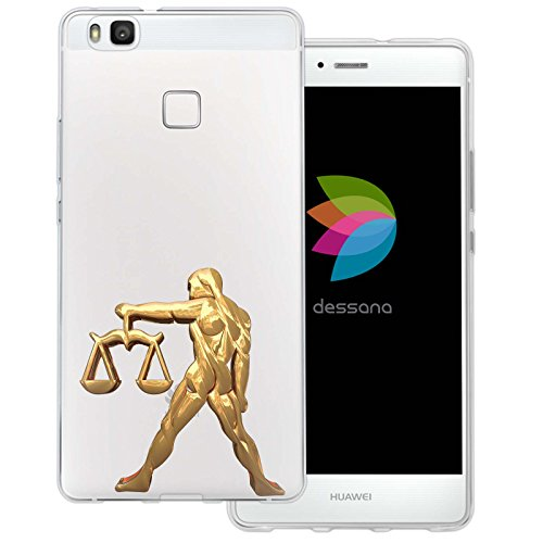 dessana sterrenbeeld goud transparante siliconen TPU beschermhoes 0,7 mm dunne mobiele telefoon soft case cover tas voor Huawei, Huawei P9 Lite, weegschaal