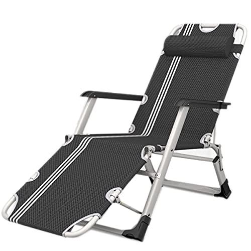 HDZW Sillón reclinable portátil Multifuncional, tumbonas Cómoda Silla Plegable, con reposacabezas