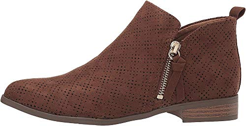 Dr. Scholl's Shoes Women's Rate Zip Ankle Boot, Chocolate Brown, 9.5