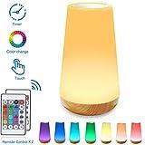 HONYAO Veilleuse LED, Lampe de Chevet Colorée à 360°, Lampe Nuit Rechargeable avec Toucher...
