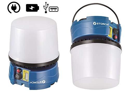 Preisvergleich Produktbild Storch 601140 LED Bell Akku 30W 360° Raumausleuchtung (Akku- und Kabelbetrieb)