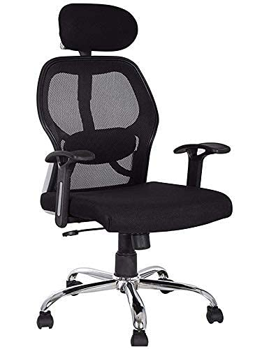Nice Chair Office Chair Ergonomic for Computer Work & Study Chair for Home | Gaming Chairs Revolving Rolling for Office Work at Home (Black)