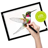 Kimfly A4 LED Light Pad Light Box Tracing Board Diamond Painting Light Table Ultra-Thin LED Copy Board USB Power LED Artcraft for Artists Drawing Sketching-Black