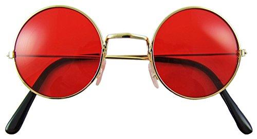 Das Kostümland Lennon Brille Nickelbrille - Rot