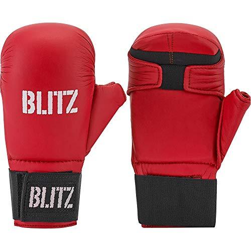 Blitz PU Elite - Guantes de Boxeo para Combate, Color Rojo, Talla X-Large