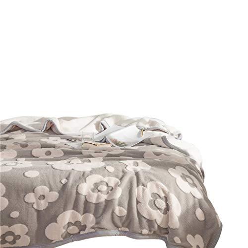 Throw Blanket, Sofá Multifunción De Doble Capa para Lanzar El Cobertor De Aire Acondicionado De La Siesta De Vellón Coral, Opcional (Color : A, Tamaño : 200 × 230cm)