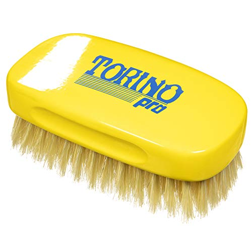 Torino Pro Soft 13 Row Palm Wave Brush - #1880 - military hair brush with 100% boar bristles - Great brush with pull for laying down 360 waves before putting on your durag- Good for connections