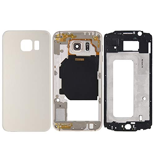High-end Best Replacement Parts Full Housing Cover(Front Housing LCD Frame Bezel Plate + Back Plate Housing Camera Lens Panel + Battery Back Cover) Compatible With Samsung Galaxy S6 / G920