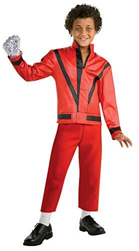 Michael Jackson Child's Red Thriller Jacket Costume Accessory, Medium