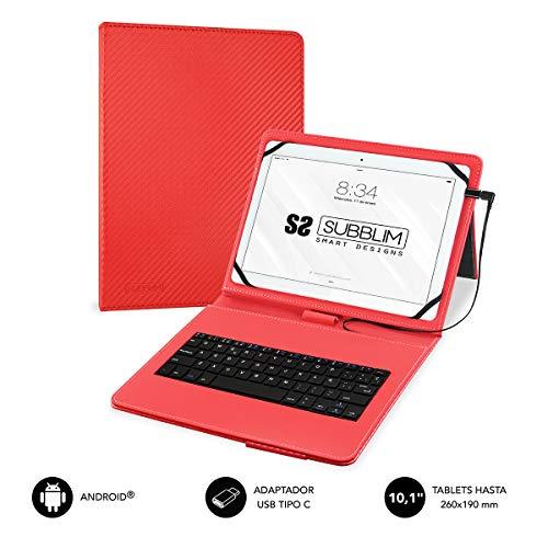 Subblim SUB-KT1-USB002 - Funda con Teclado para Tablet, Multicolor, Talla Única