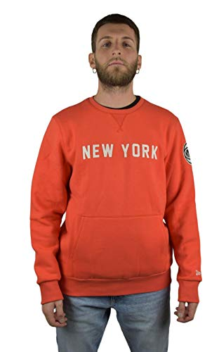 New Era NBA Wordmark New York Knicks Sweatshirt Herren orange/weiß, XL