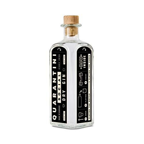 Quarantini Gin - Social Dry Gin - (1x 0.5l) fruchtige Sommer Gin Noten, Papaya, Bergamotte, Wacholder