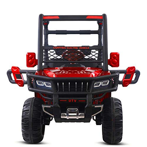 Children's Electric Car with Four Wheels, Can Sit on A Remote Control Car, Baby Large Double Toy Four-Wheel Drive Off-Road Vehicle, 134X77x101cm,1