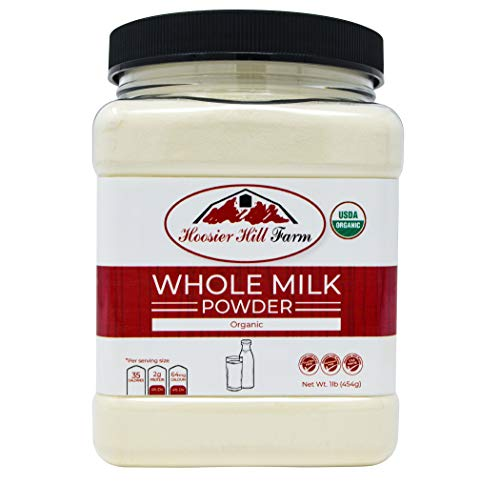 Certified Organic Whole Milk Powder (1lb), Hoosier Hill Farm, Gluten free Hormone free