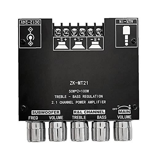 Bluetooth Amplificador Tablero HIFI STEREO 2.1 12V-24V 2x50W 100W...