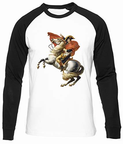 Napoleón En Su Caballo Algodon Organico Unisex Camiseta Beisbol Hombre Mujer Manga Larga Unisex Baseball T-Shirt Long Sleeves