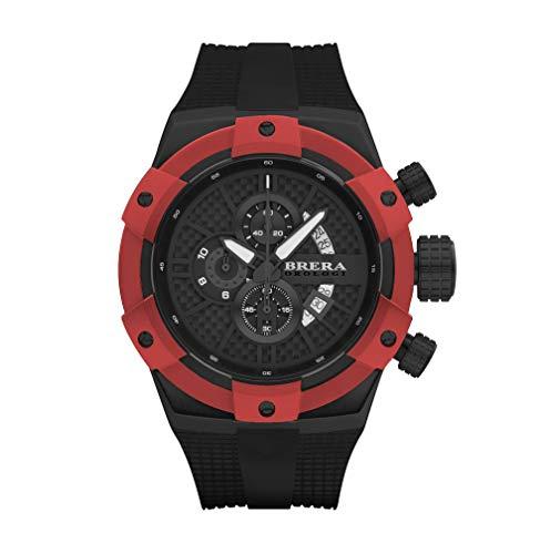Brera Orologi Reloj de Cuarzo Analógico para Hombre con Correa de Goma Mod. Supersportivo Brssc4903a