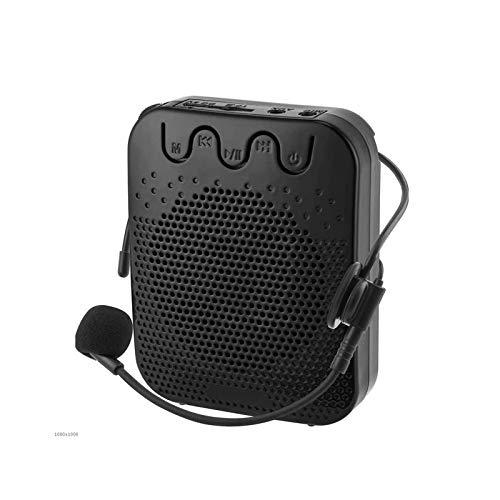 Adesign Amplificador de Voz, Altavoz de Altavoz de Voz 10W Altavoz Bluetooth portátil con Auricular de micrófono con Cable Recargable PA System Power Bank para Maestros, guía turístico, al Aire Libre