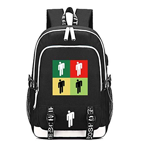 FURUN Billie Eilish Backpack School Bags USB Charging Daypack Outdoor Travel Shoulders Bag Daily Backpack Book Bag Unisex Bagpack