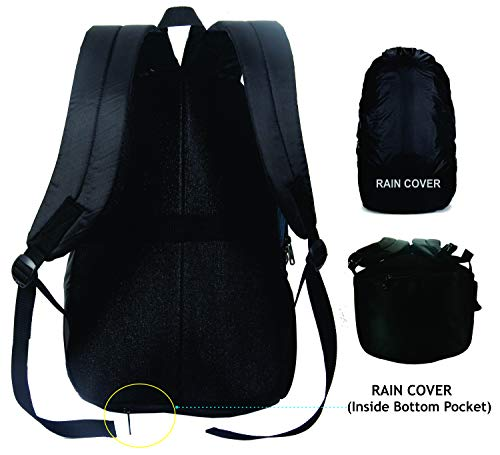 """Polestar Ranker 32 Liters Polyester Blue 15.6"""" Casual Travel Laptop Backpack With Rain Cover"""