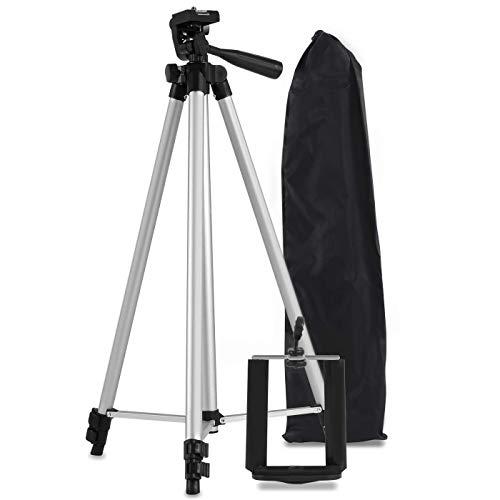 Tripé Universal de 1,30 mt com Suporte Para Celular Câmera com Bolsa em alumínio para foto e vídeo