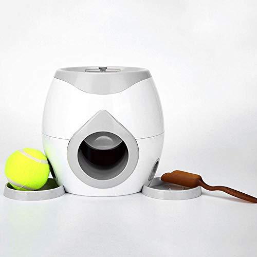 Volwco Hundespielzeug, interaktives Hundespielzeug, Tennisball, Werfer für Nahrung, Belohnung, Apportieren und Leckerlis, intelligentes Training, langsame Fütterung, Spielzeug für Teddy-Labrador