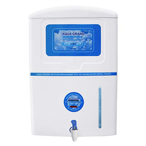 Grand Plus 12 LTR 14 Stage Machine with TDS CONTRLLER RO+UV+TDS Controller+Minerals Water Purifiers