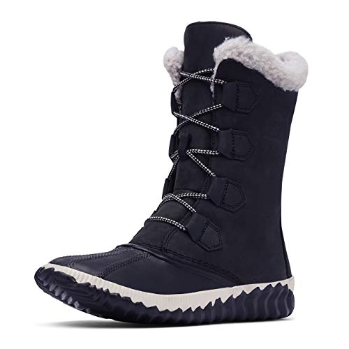 Sorel Women's Out N About Plus Tall Boot - Rain and Snow - Waterproof - Black - Size 9.5